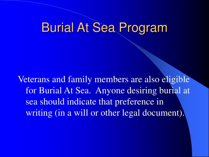 Burial At Sea Program
