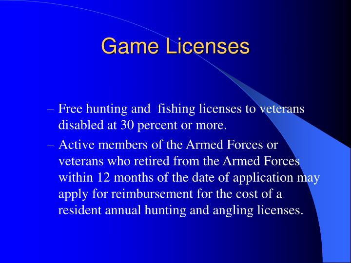 Game Licenses