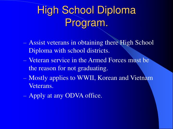 High School Diploma Program.