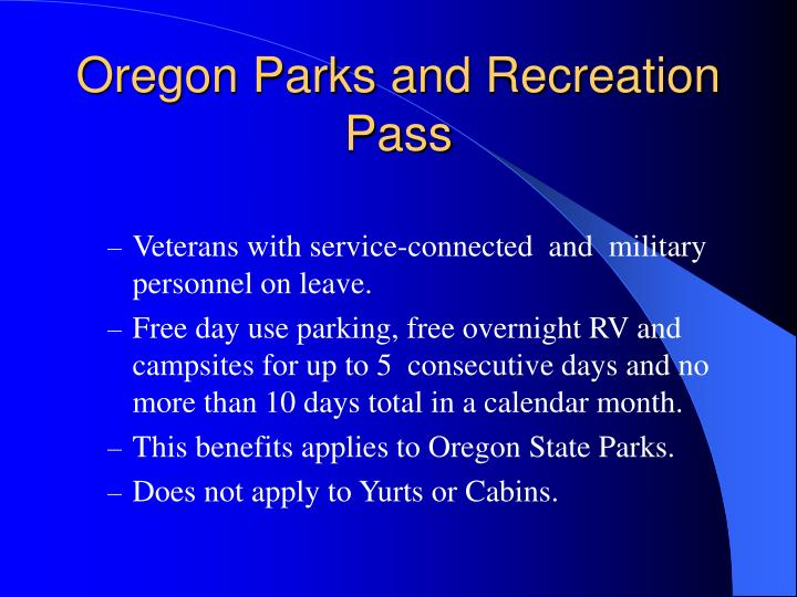 Oregon Parks and Recreation Pass