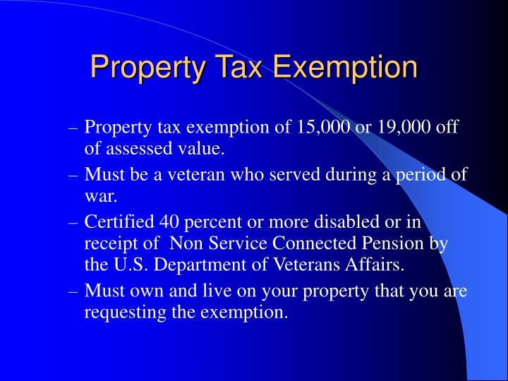 Property Tax Exemption