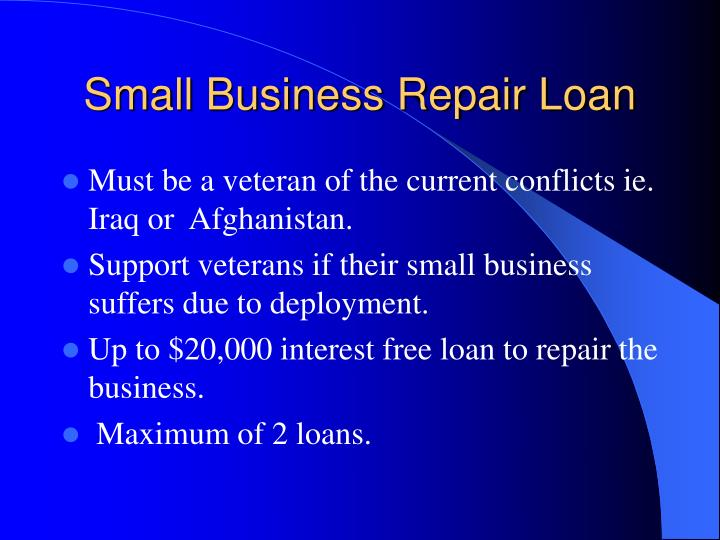 Small Business Repair Loan