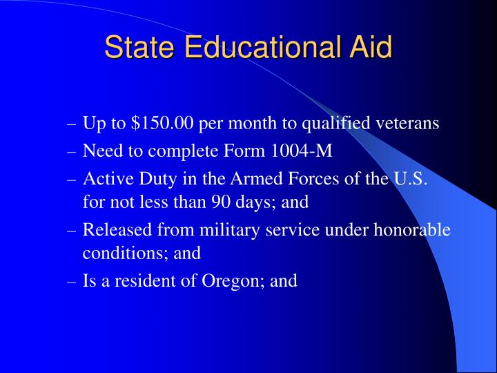 State Educational Aid