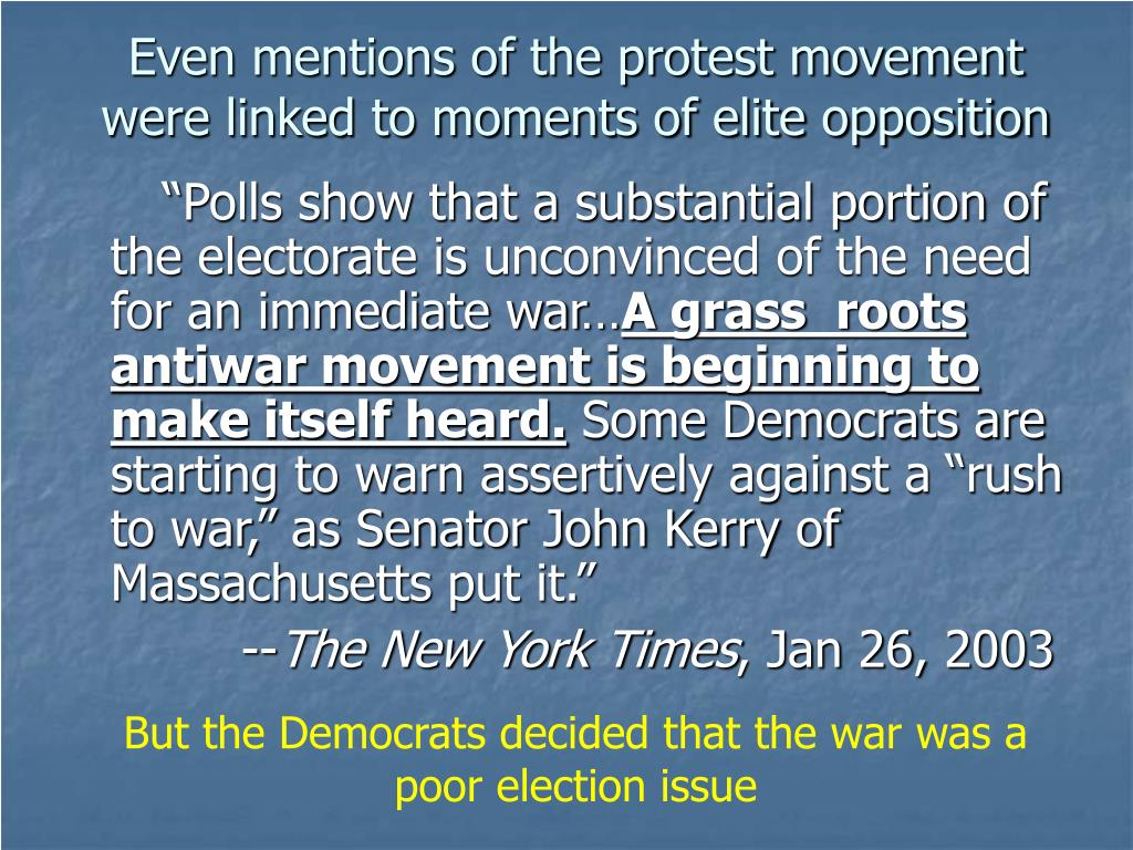 Even mentions of the protest movement were linked to moments of elite opposition