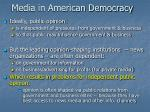 media in american democracy