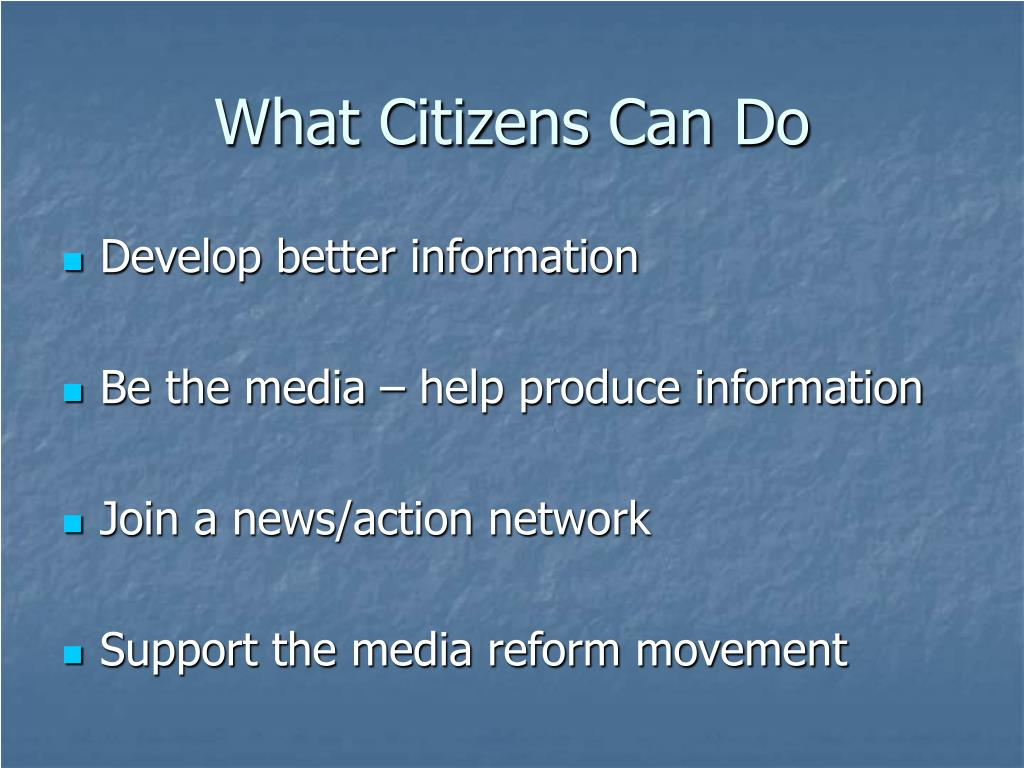 What Citizens Can Do