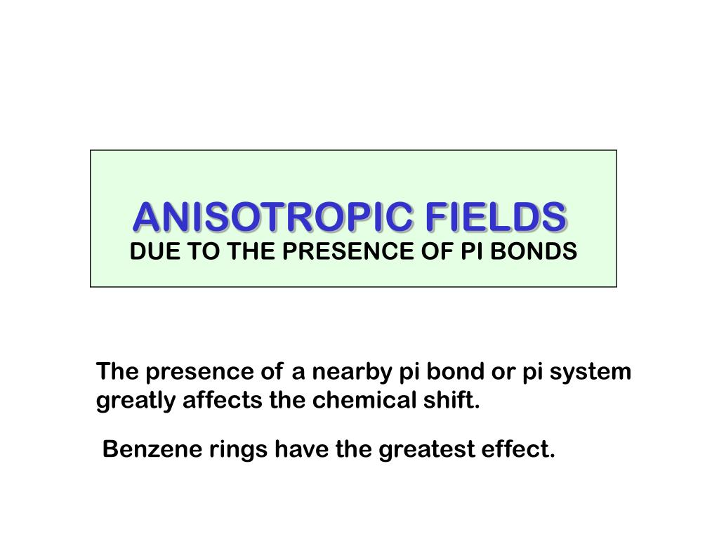 ANISOTROPIC FIELDS
