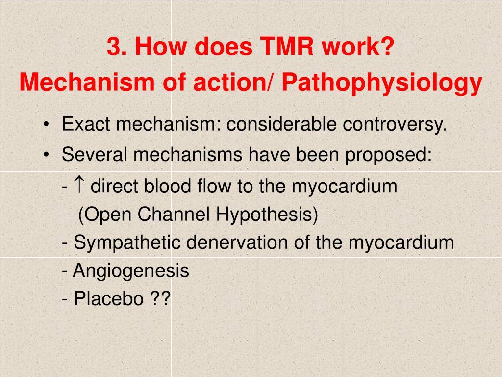 3. How does TMR work?