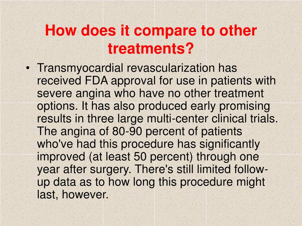 How does it compare to other treatments?