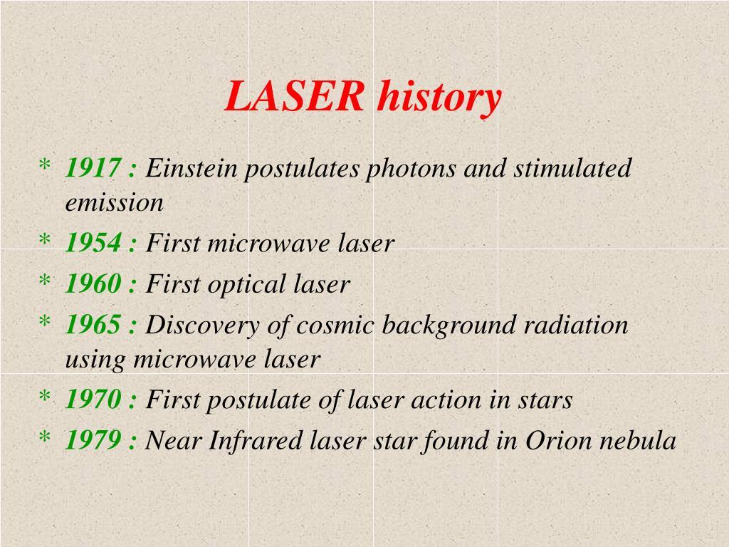 LASER history