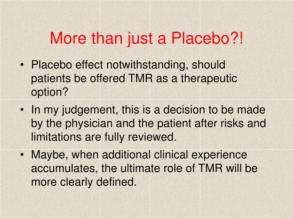 More than just a Placebo?!