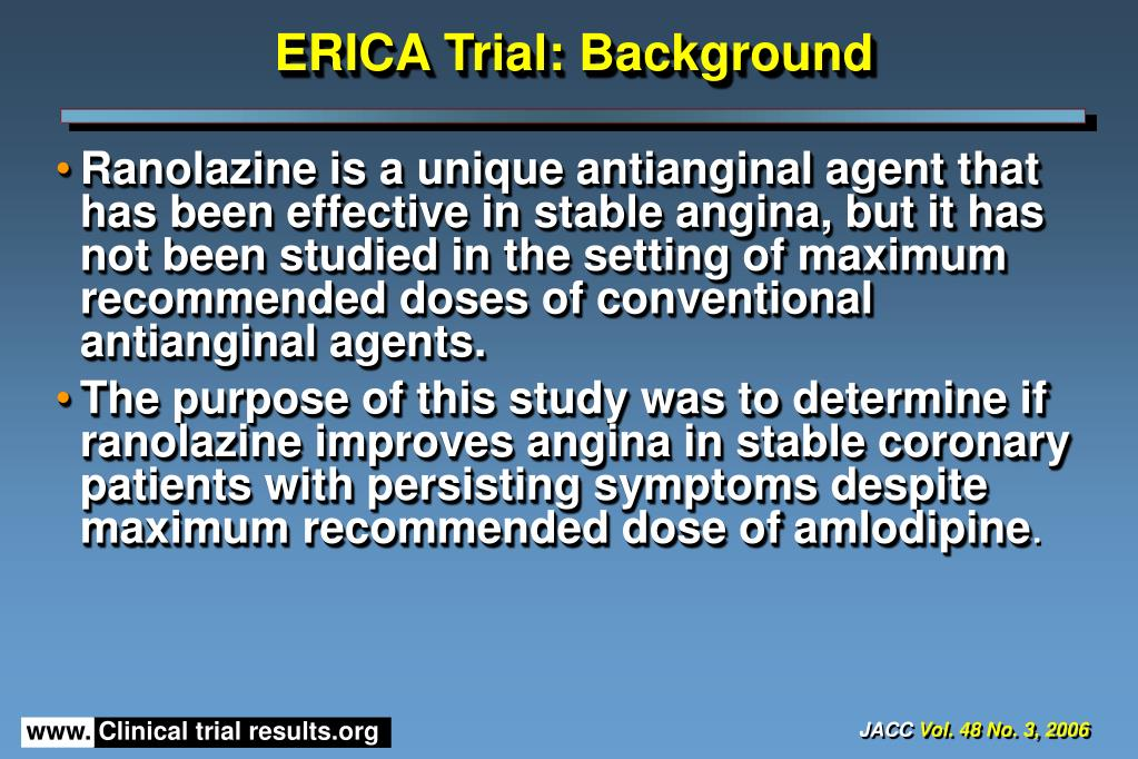 ERICA Trial: Background