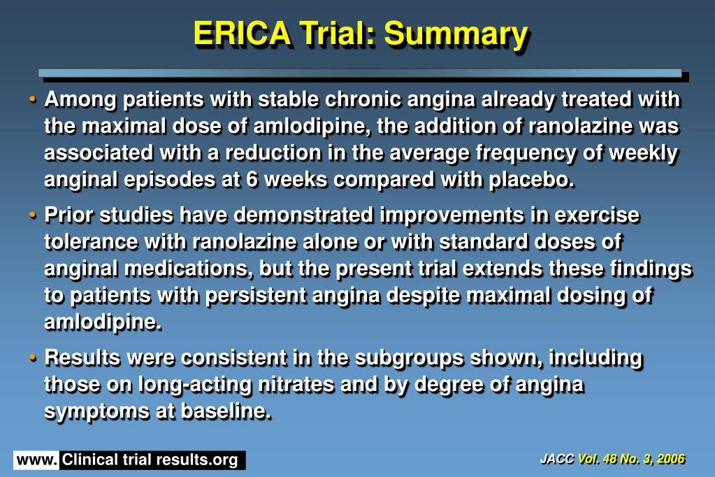 ERICA Trial: Summary