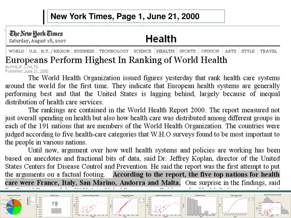 New York Times, Page 1, June 21, 2000