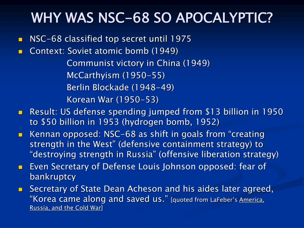 WHY WAS NSC-68 SO APOCALYPTIC?