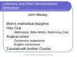 lutherans and other denominations methodists