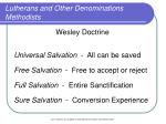 lutherans and other denominations methodists14
