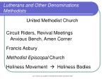 lutherans and other denominations methodists15