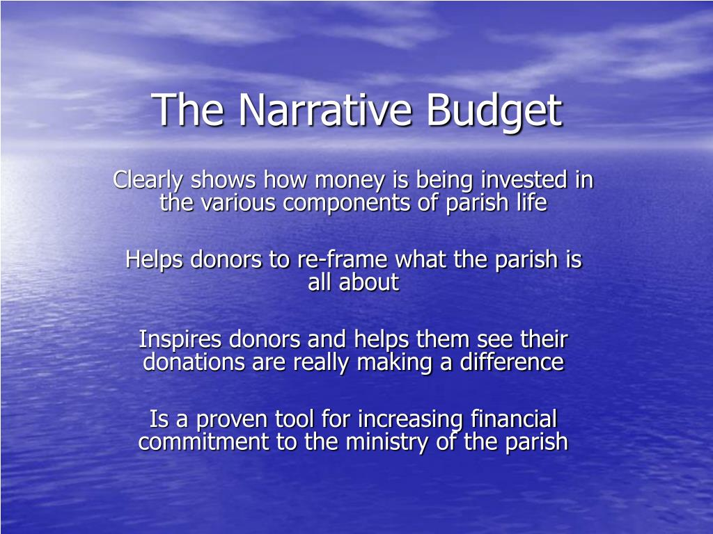 The Narrative Budget