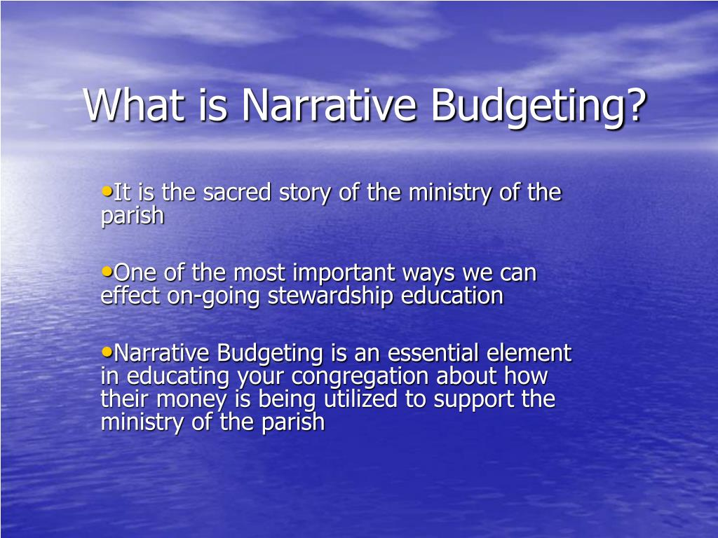 What is Narrative Budgeting?