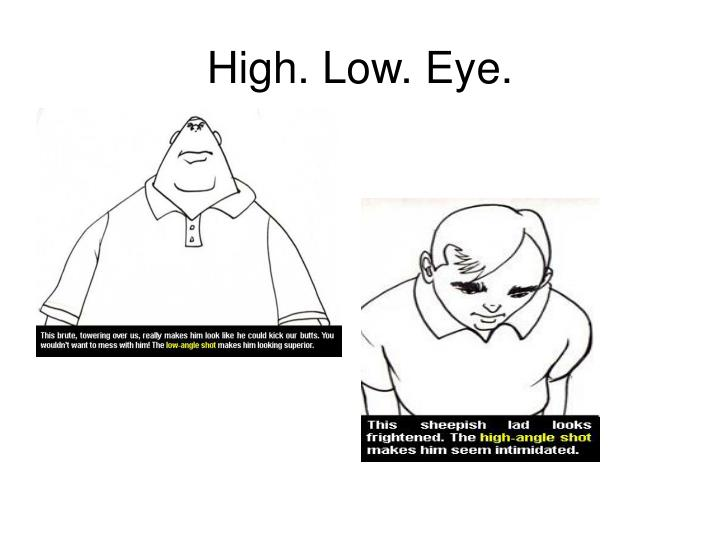 High. Low. Eye.