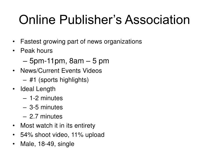 Online Publisher's Association