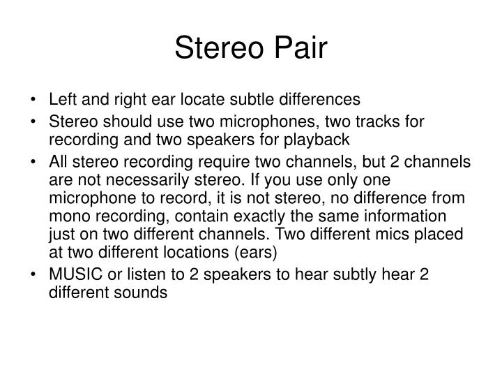 Stereo Pair