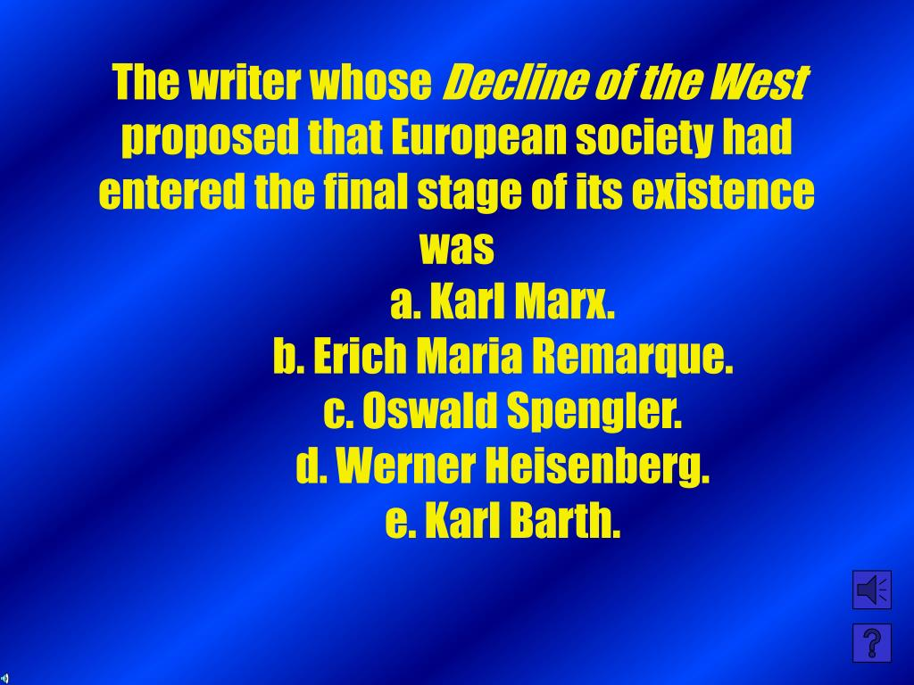 The writer whose