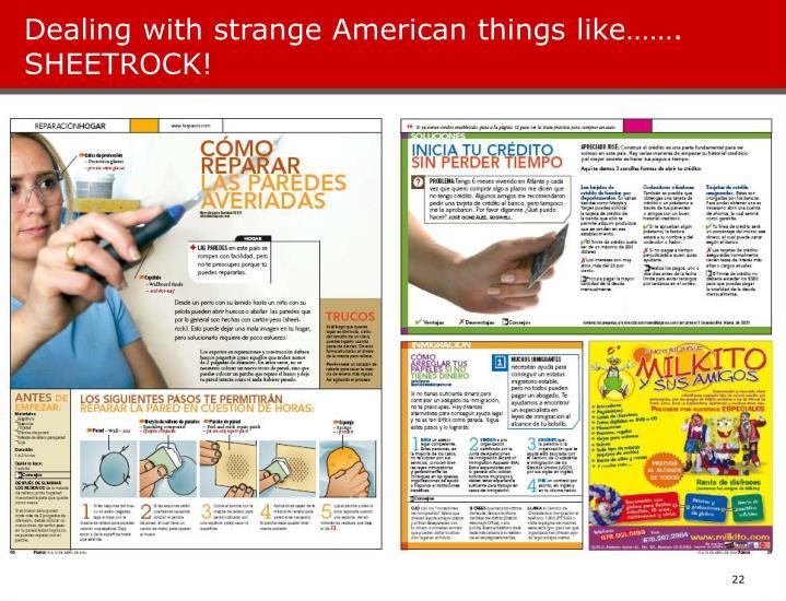 Dealing with strange American things like……. SHEETROCK!