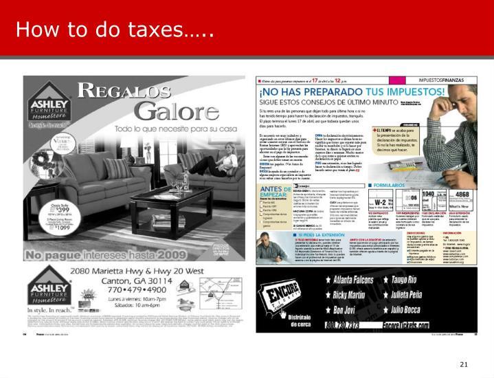 How to do taxes…..