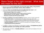 mass target is the right concept what does this mean for the ajc
