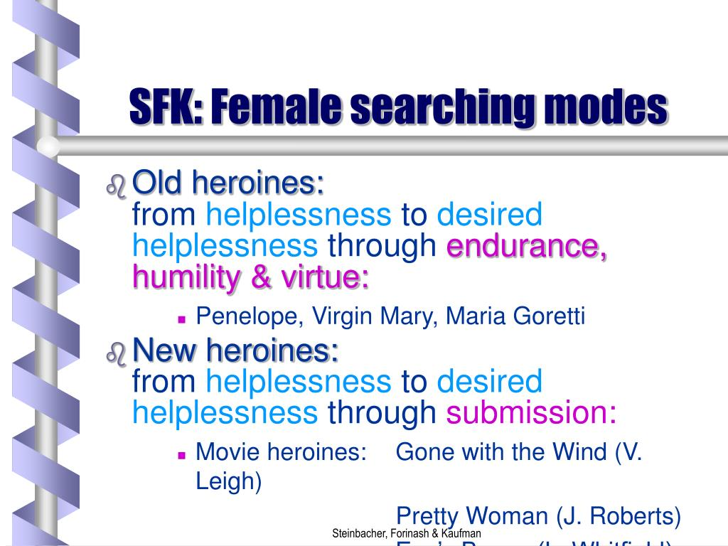 SFK: Female searching modes