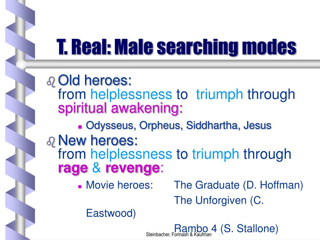 T. Real: Male searching modes
