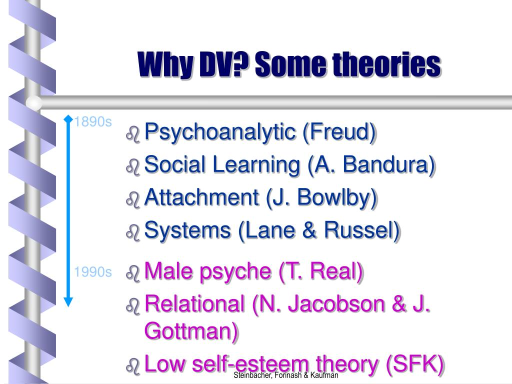 Why DV? Some theories