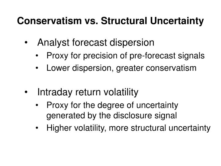 Conservatism vs. Structural Uncertainty