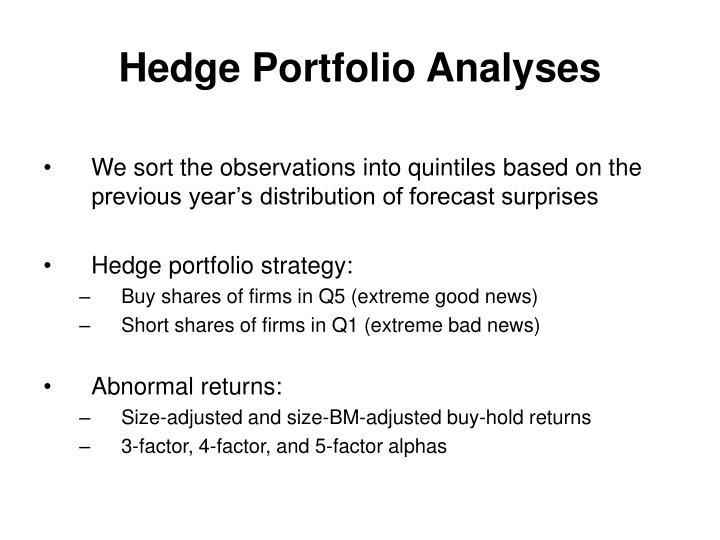 Hedge Portfolio Analyses