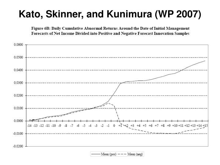 Kato, Skinner, and Kunimura (WP 2007)
