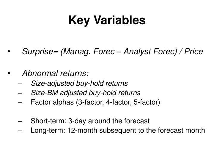 Key Variables