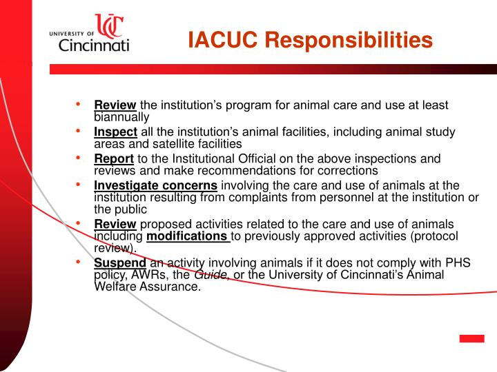 IACUC Responsibilities