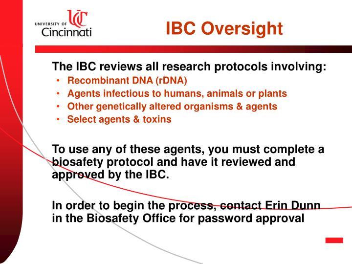 IBC Oversight