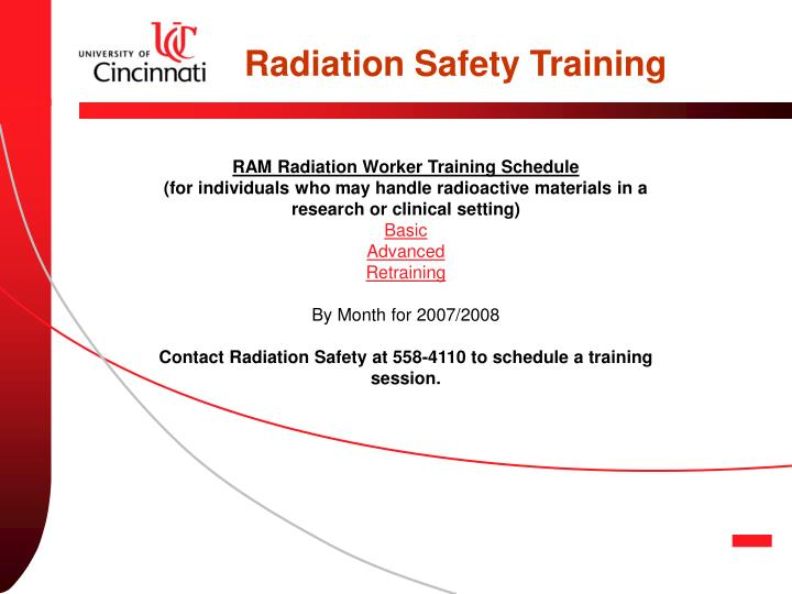 Radiation Safety Training