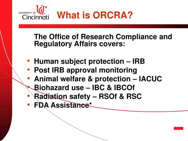 What is ORCRA?
