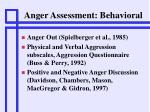 anger assessment behavioral