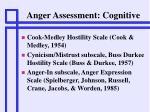 anger assessment cognitive