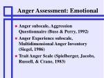 anger assessment emotional