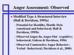 anger assessment observed
