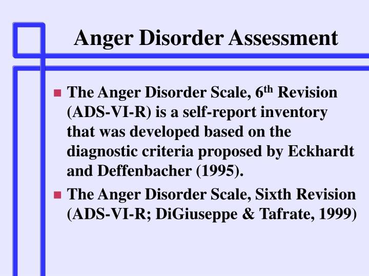 Anger Disorder Assessment