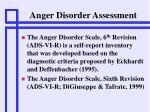 anger disorder assessment