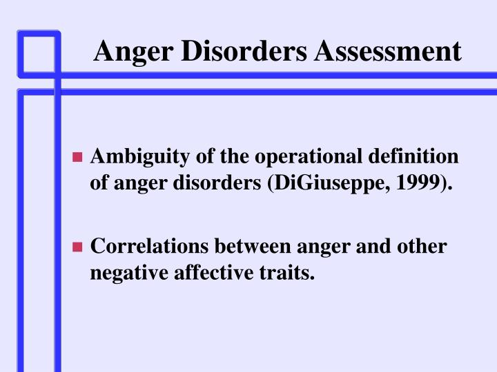 Anger Disorders Assessment