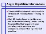 anger regulation interventions